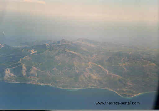 thassos, bird view